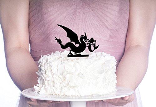 Dragon Wedding Cake (Dragon & Mermaid Cake Topper, Wedding Cake)