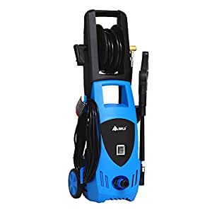 2000 PSI 1.5 GPM Electric High Pressure Washer with Hose Reel (Blue)