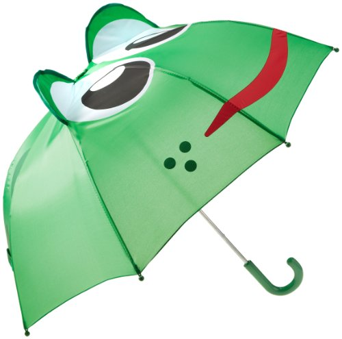 Western Chief Kids Character Umbrella, Fritz the Frog, One Size (Frog Umbrella)