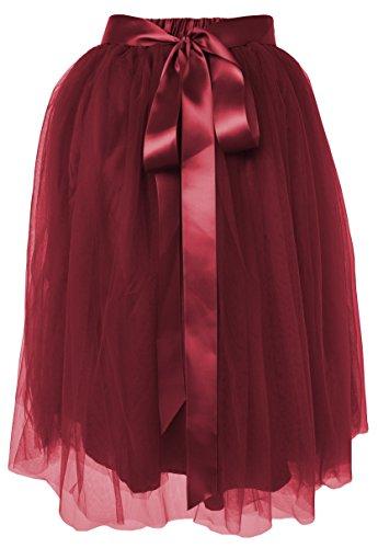Dancina Women's Knee Length Tulle Skirt A Line
