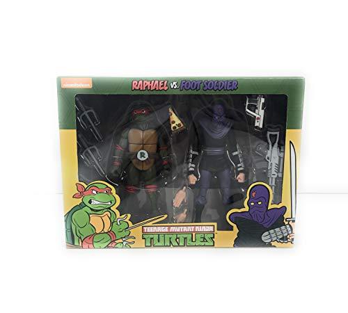 Tmnt Foot - NECA Raphael vs Foot Soldier Action Figure 2 Pack Teenage Mutant Ninja Turtles Cartoon Version TMNT Target Exclusive
