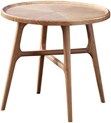 End Tables Tabla sólida de Madera del Extremo Simples pequeñas mesas Redondas Secundarios for la Sala de Estar del Dormitorio del hogar del jardín Uso de la Oficina ...