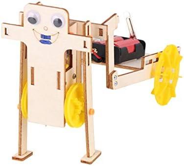 Aufee Robot mecánico de Bricolaje, Juguete Educativo de Madera con batería del Robot de Bricolaje, para niños para Estudiantes(Trolley Robot): Amazon.es: Hogar