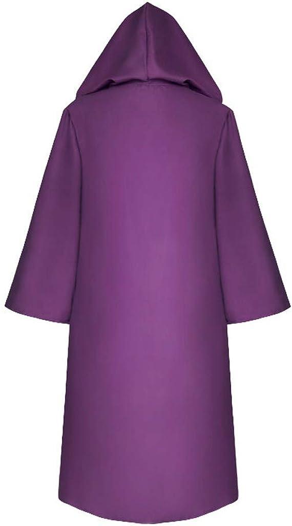 Alangbudu Family Cosplay Halloween Cape Windbreaker Hoodie Outfits Party Cardigan Long Sleeve Overcoat Jacket Outwear