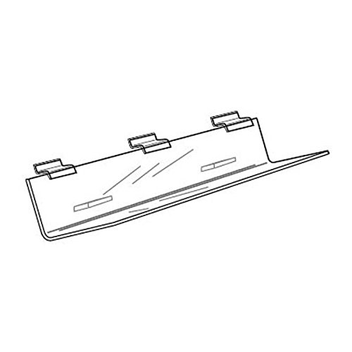 Acrylic Slatwall CD Shelf - 23 3/4
