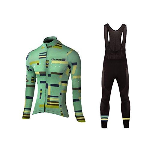 Uglyfrog Women's Cycling Clothing Suit Winter Thermal Fleece Sportswear Set Long Sleeve Windproof Jersey Coat Jacket + 3D Padded Pants Trousers