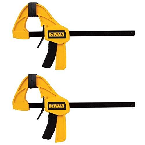 (DEWALT DWHT83158 Medium Trigger Clamp with 12 inch Bar 2pk)