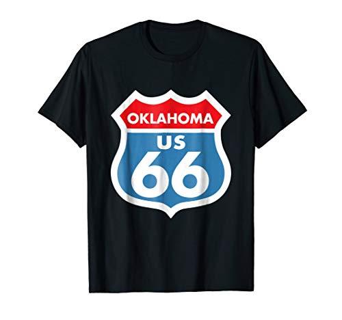 Route 66 tshirt Oklahoma Highway Sign Shirt ()