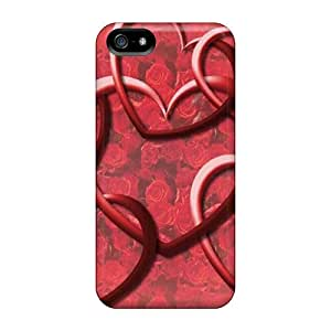 Hot Yjc44marw Linked Hearts Tpu Case Cover Compatible With Iphone 5/5s