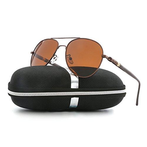 Aviator Sunglasses for Men Women Polarized VOPOLAR Metal Frame UV400 - Lens Small Aviator Sunglasses