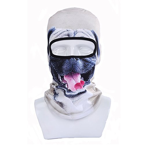 [ECYC® Fleece Warm Face Mask Windproof Balaclava Hood for Motorcycle Ski Winter Snowmobile Outdoor Research Cold Weather [ Grey Puppy Dog] (Ski Costumes)