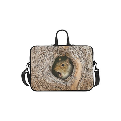 """InterestPrint Classic Personalized Cute Squirrel in Tree Hole Forest Woods 13"""" - 13.3"""" /Macbook Pro Air 13 Inch Laptop Sleeve Case Bags Skin Cover for Lenovo"""
