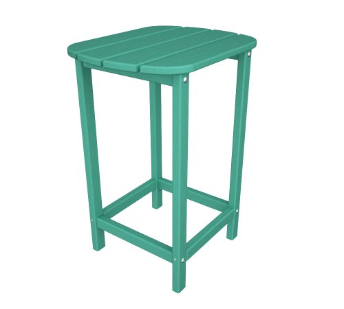 POLYWOOD SBT26AR South Beach 26-Inch Counter Side Table, Aruba (Wine South Beach)