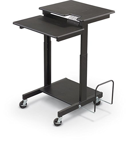 BALT 85052 Web A/V Stand-Up Workstation, 34w x 31d x 44-1/2h, Black Laminate Top by Balt