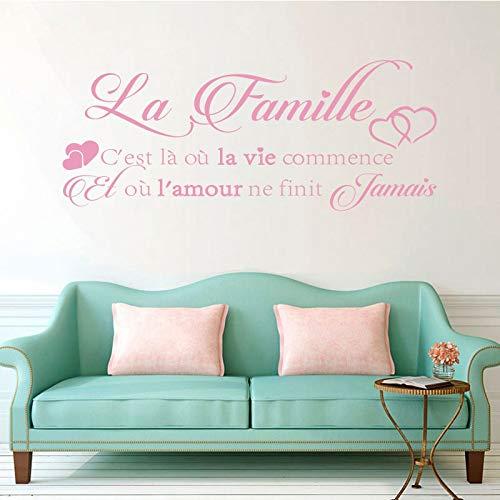 Tatuajes de pared de La-famille Sticker Mural Autocollant ...