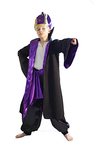 CL COSTUMES World Book Day-Character-Aladdin-Wizard ABANAZAR Child's