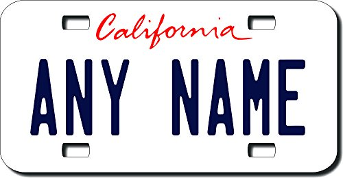 TEAMLOGO Personalized California License Plate - Sizes for Kid's Bikes, Cars, Trucks, Cart, Key Rings (3