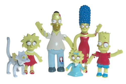 Los Simpson Halloween Zombies (Simpsons Halloween Bendables Boxed Set #1 by)