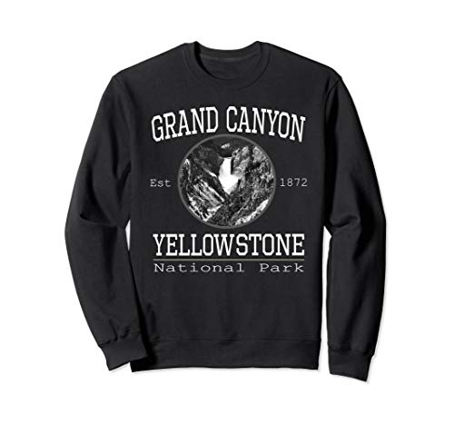 Grand Canyon Yellowstone Park Vintage Design Sweatshirt (Best Time To Go Grand Canyon National Park)