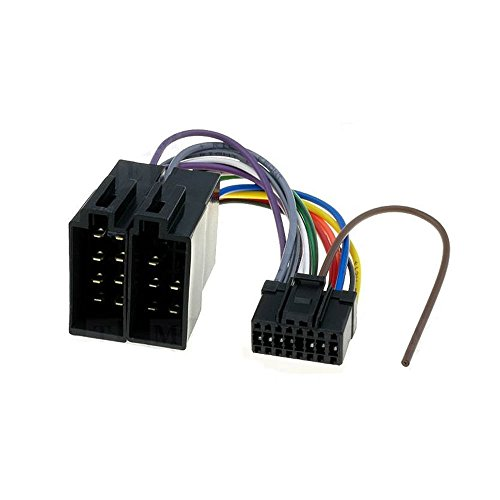 16 Pin Radio Connectors (DEH-P Pioneer 16 Pin to ISO Lead Wiring Loom Power Adaptor Wire Radio Connector)
