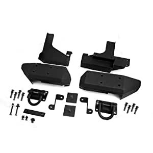 Rugged Ridge 11547.01 Textured Black Aluminum Rear XHD Bumper Pod - Pair