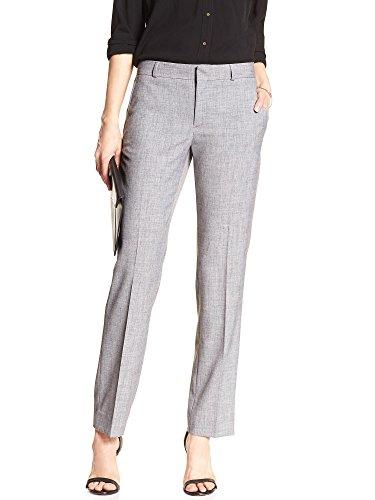 - Banana Republic Women's Jackson-Fit Grey Melange Slim Straight Suit Pant Size 2