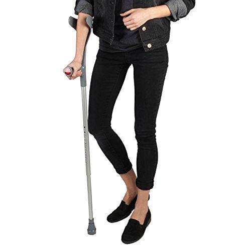 Soles Aluminum Forearm Crutch (SLS806BL) - Black - (Standard Forearm Crutch)