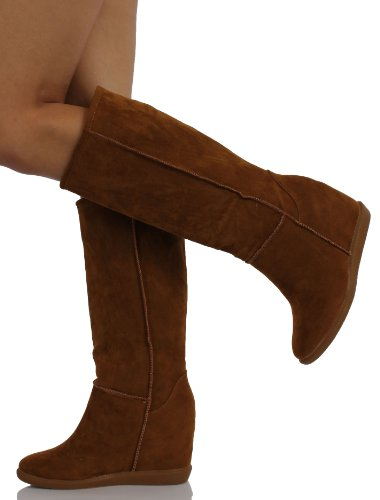 Mfs Dames Tom-02 Laarzen, Tan Suede, 10