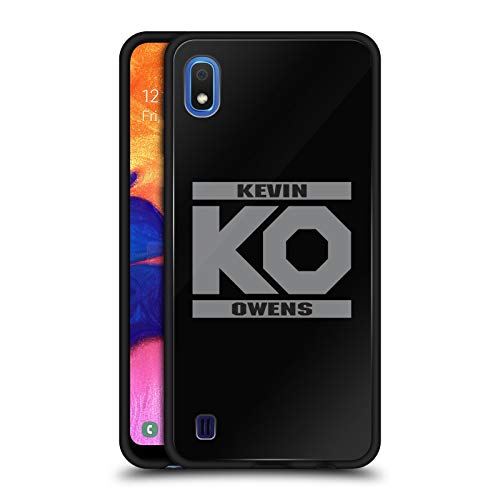 Official WWE KO Fight Kevin Owens Black Hybrid Glass Back Case Compatible for Samsung Galaxy A10 (2019) ()