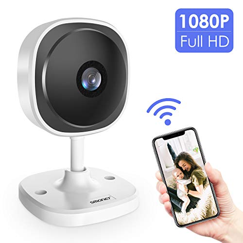 SMONET 【1080P Full HD】 Security Camera, 180 Degree Panoramic Home Wireless IP Camera with Two-Way Audio,Motion Detection,Free APP, 2.4GHz WiFi Indoor Video Surveillance Camera for Dog/Cat/Baby