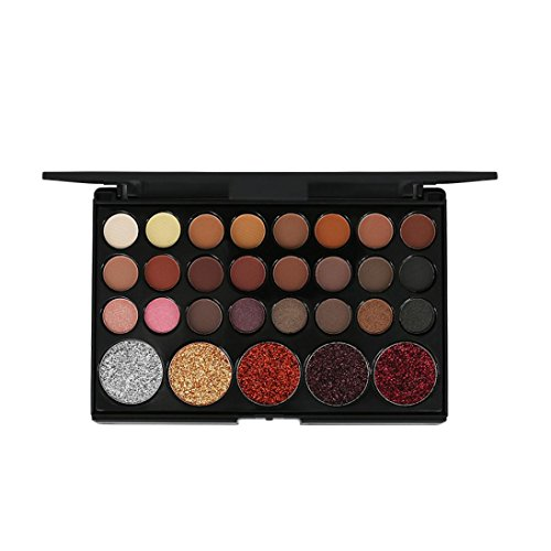 Eyeshadow Palette,Lavany 29 Colors Matte Eye Shadow Powder Palette in Shimmer Glitter Eyeshadow Palette,Face Lips Art Makeup tools for Party (B)