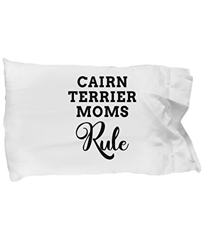 Cairn Terrier Mom Pillow Case, Great Themed Pillowcase Items Gifts for Moms Who Rule, Microfiber Pillow Cover