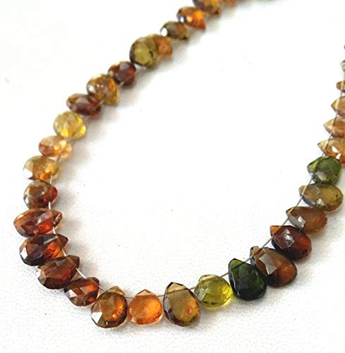 50% Off Kalisa Gems Amazing Brand New 6 inch Strand Natural Multi Tourmaline Faceted pear Shaped briolettes, 3.5x5.5-5.5x8 mm Approx,Wholesale Price