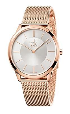 CALVIN KLEIN K3M21626 Mens MINIMAL Rose Gold-Tone Swiss Made Watch