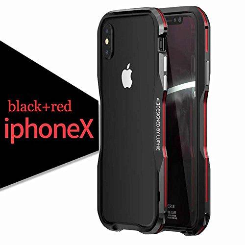 Foneda-For-Apple-iPhone-X-Case-Shockproof-Ultra-Luxury-Aluminum-Metal-Frame-Armor-Irregularly-Aluminum-Metal-Screw-Frame-Bumper-Built-in-Sponge-For-iPhone-X