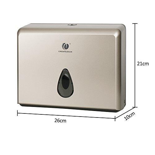 BBX Lephsnt CHUANGDIAN Wall-Mounted Bathroom Paper Towel Dispenser (Champagne Gold) by BBX Lephsnt (Image #6)