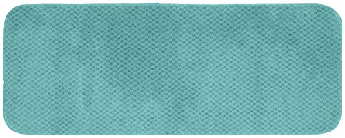 Garland Rug Cabernet Runner Nylon Washable Rug, 22-Inch by 60-Inch, Seafoam - Machine Made Made in the USA Machine Washable Latex Backing - bathroom-linens, bathroom, bath-mats - 41FEtrfVpXL -