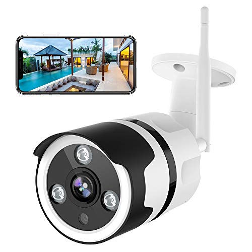 NETVUE Outdoor Security Camera - 1080P Security Camera Outdoor with Night Vision, Motion Detection & Instant Alert, Zooms Function, IP66 Waterproof, 2-Way Audio, Cloud Storage/SD Card Work with Alexa