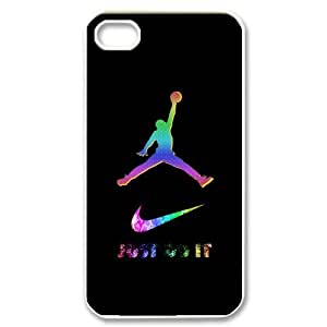 Brand Logo Series - Colorful Just Do It Nike Logo Design Hard Case Cover for Apple Iphone 4 4s
