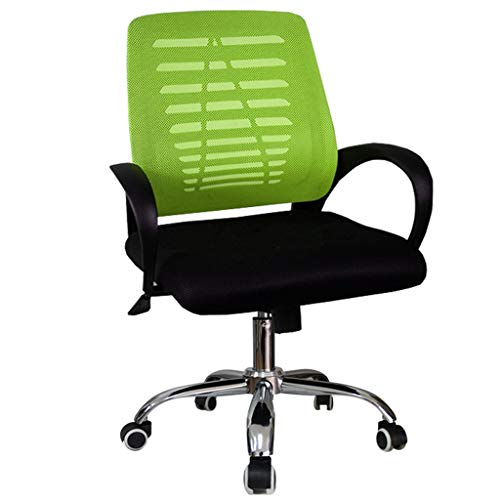 Bar chair Computer Chair Home Mesh Backrest Chair Stool Office Modern Simple Swivel Chair Boss Chair Office Chair (Color : Green)