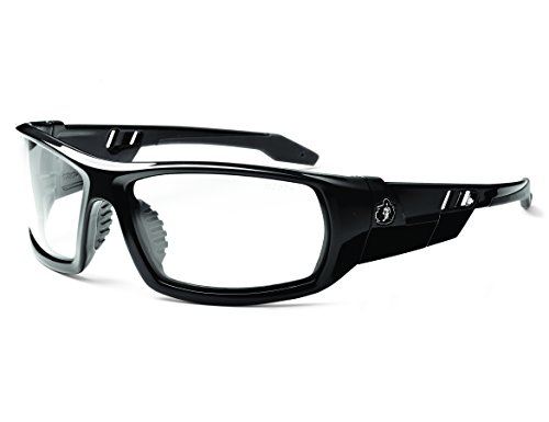 Ergodyne Skullerz Odin Anti-Fog Safety Glasses - Black Frame, Clear Lens
