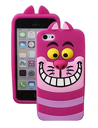 iPhone 7 Silicone Case,Emily Fashion Super Cute 3D Cartoon Character Alice's Grins Cat Protective Silicone Back Case Cover for iPhone 7 4.7 inch