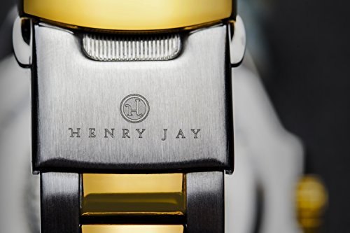 Henry Jay Mens 23K Gold Plated Two Tone Stainless Steel