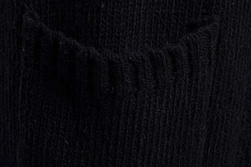 Mens À Unie Rond Col Élégant Longues Capuche Hiver Veste Cardigan Couleur Tricot Chandails En Noire Mince Sweat Fit Slim Manches rpqSgrB