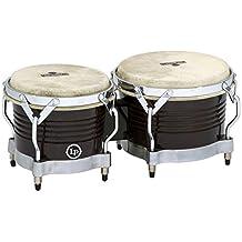 Latin Percussion M201-BKWC LP Matador Wood Bongos - Black Wood/Chrome