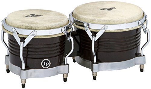 Black Bongo - Latin Percussion M201-BKWC LP Matador Wood Bongos - Black Wood/Chrome