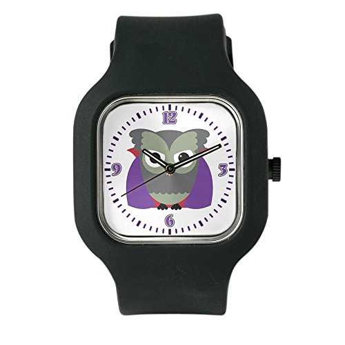 Black Fashion Sport Watch Spooky Little Owl Vampire Monster