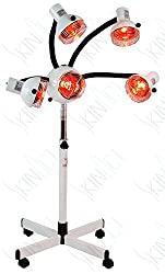 Skin Act 5 Head Infrared Heat Therapy Lamp with Flexible Arms, infra red lamp, infrared light