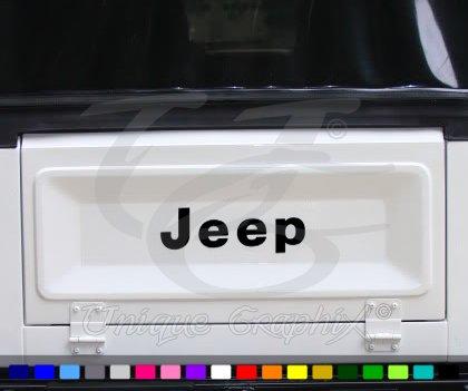 (Jeep Wrangler CJ 75-86 Tailgate Decal Emblem Black )