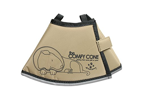 Shaped Dog Cat - All Four Paws The Comfy Cone Pet Recovery Collar by, Small, Tan